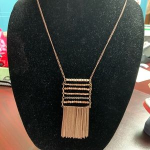 Rose gold colored necklace
